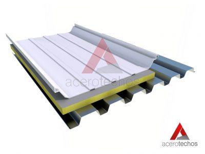 Sistema de Cubierta con Lamina Deck RD 915 Aislamiento Polyiso y Engargolado SSR LOK